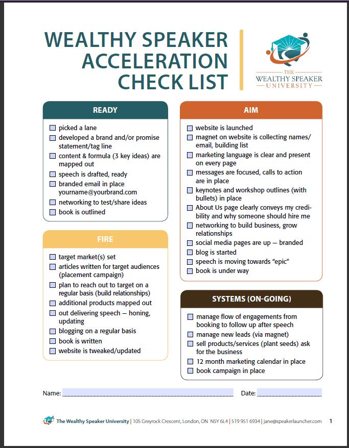 acceleration checklist
