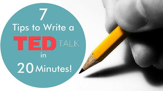 How to write your TED talk