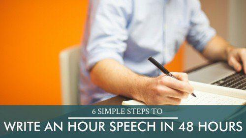 write an hour speech