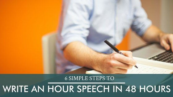 write an hour speech
