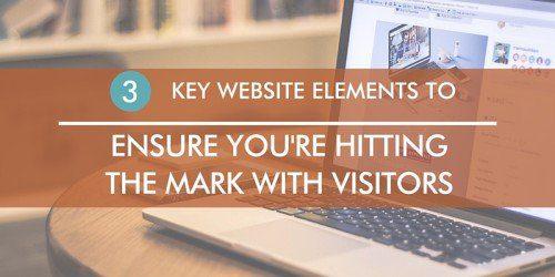 Key website elements for speaking sites