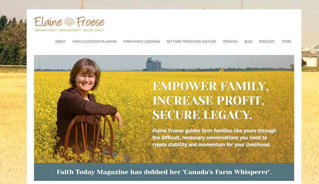 elaine froese speaker website