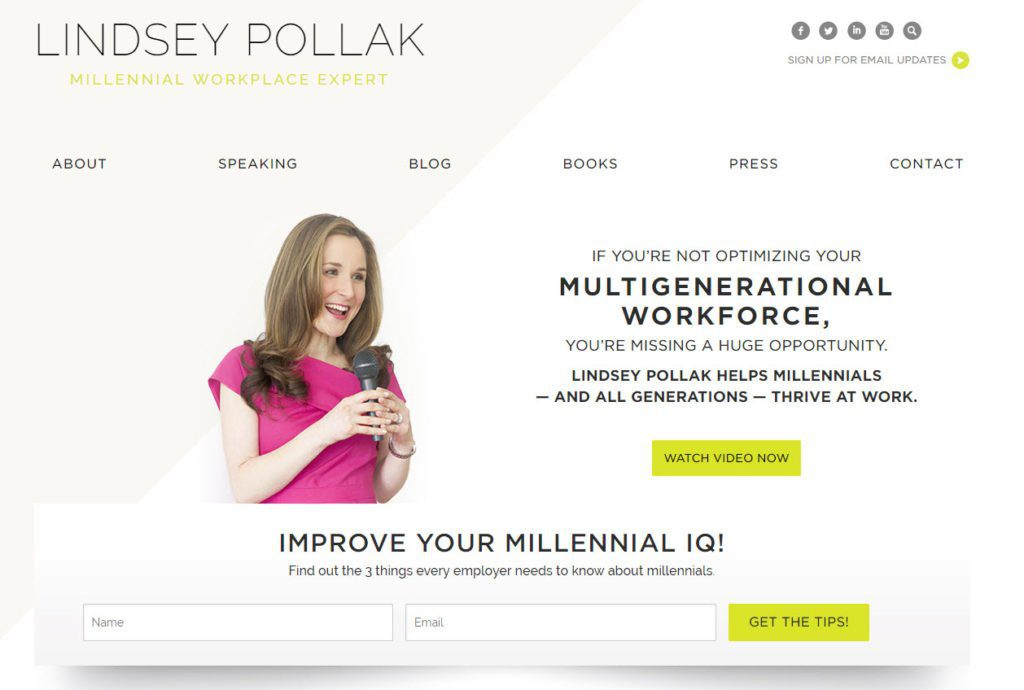 lindsey pollak speaker website