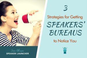 Speakers Bureaus take notice