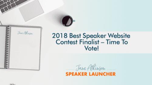 Speaking Website Contest
