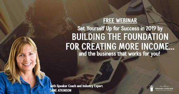 Find Success as a Professional Speaker - 2019 Webinar