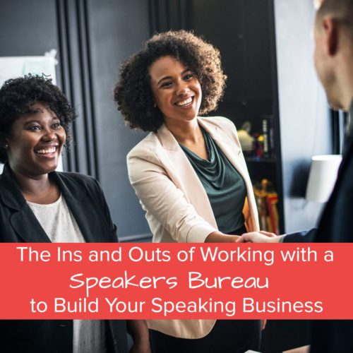 working with a speaker bureau - jane atkinson