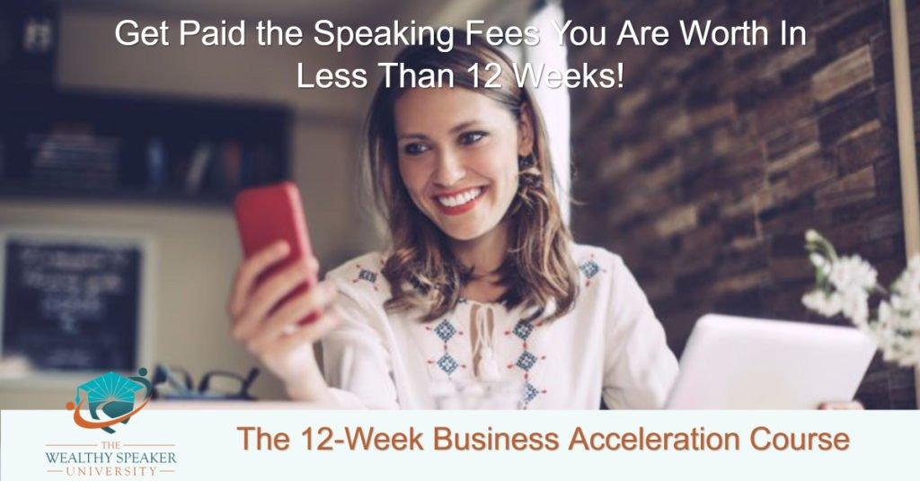 understanding speaking fees - 12 week promo