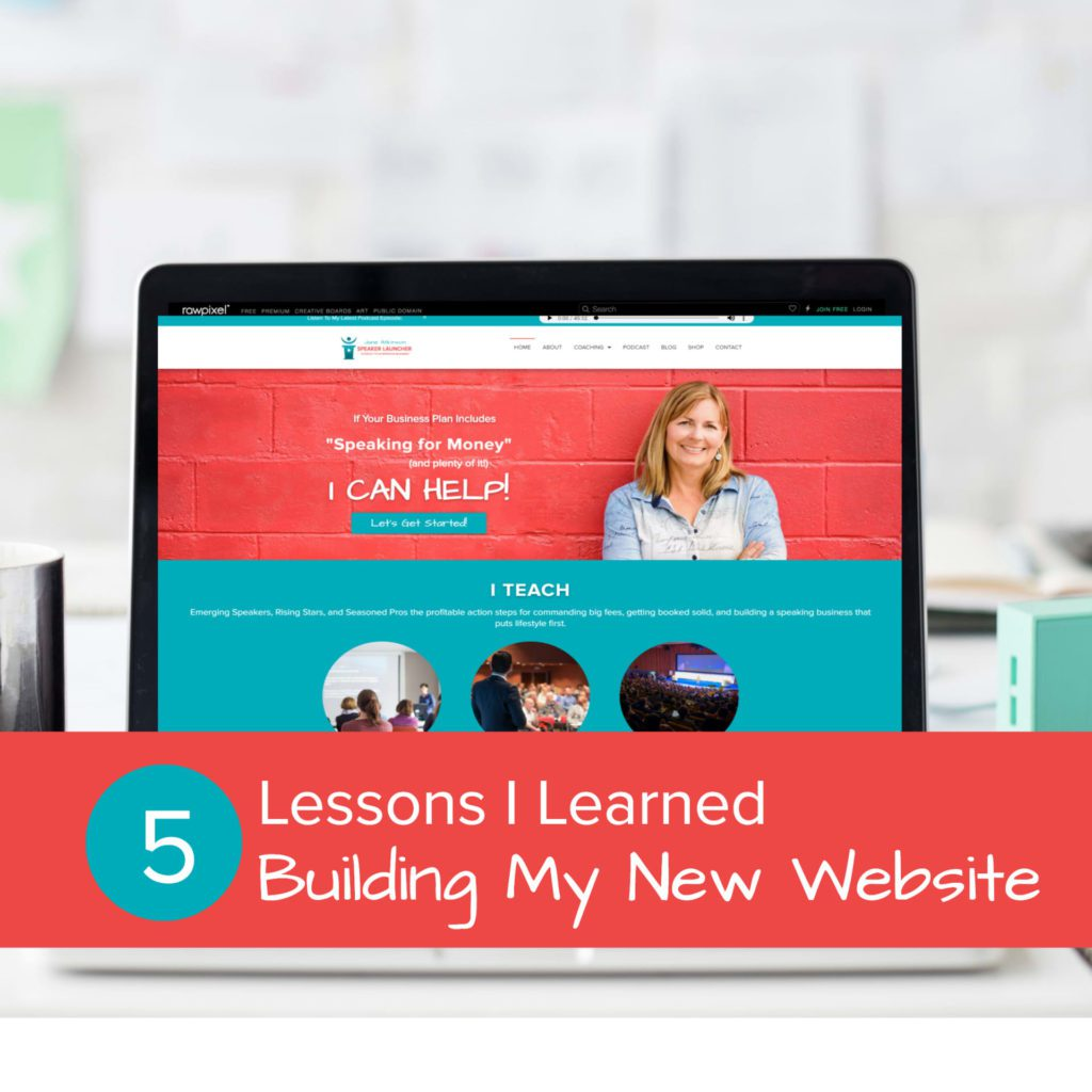 5 lessons learned building my new website - feature