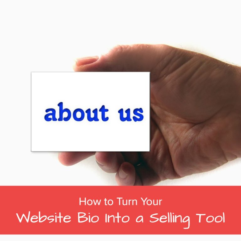 how to turn your website bio into a selling tool - jane atkinson