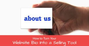 how to turn your website bio into a selling tool