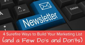4 Surefire Ways to Build Your Marketing List (and a Few Do's and Don'ts) - open graph