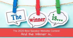 best speaker website contest - winner 2020