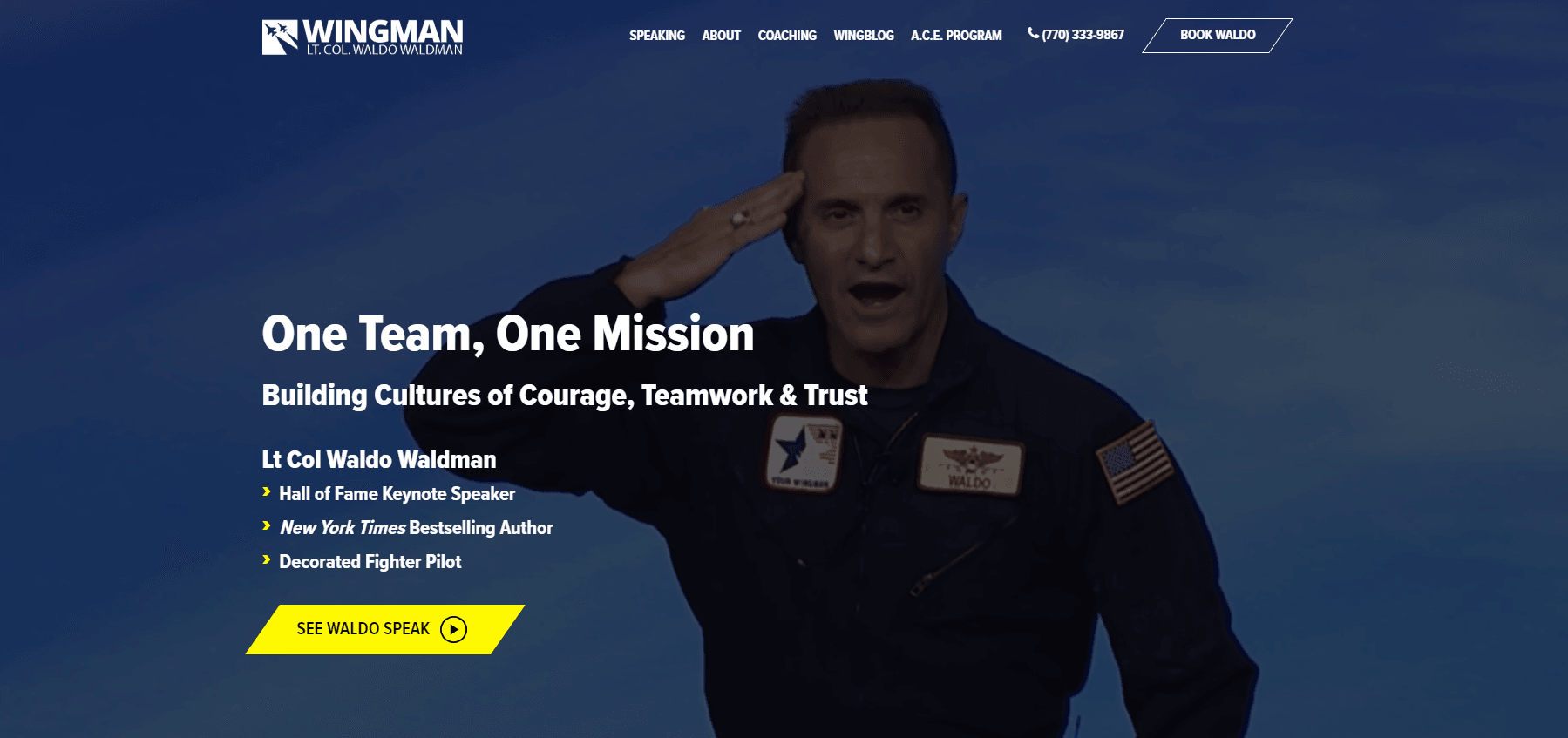 Wingman - Best Speaker Website Nominee
