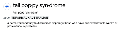 tall poppy syndrome definition